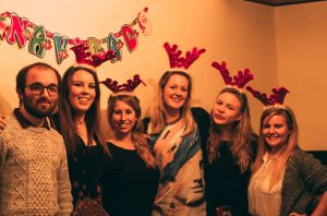 Christmas party with the crew! Photo credit: Ryan Brockhoff